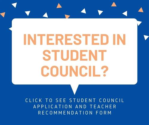 Interested in Student Council? Click for infomation