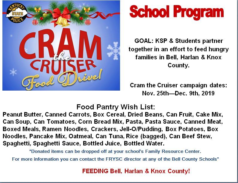 Cram the Cruiser Food Drive